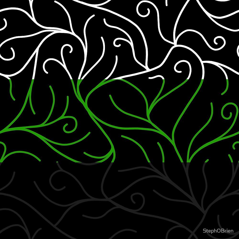 Black Velvet, Neutrois Flag Vines by StephOBrien