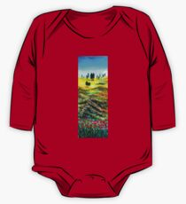TUSCANY LANDSCAPE WITH POPPIES One Piece - Long Sleeve