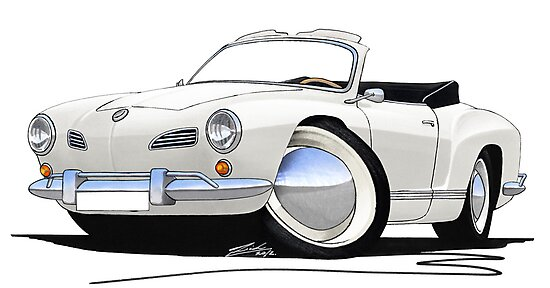 Karmann Ghia Cabriolet White by yeomanscarart