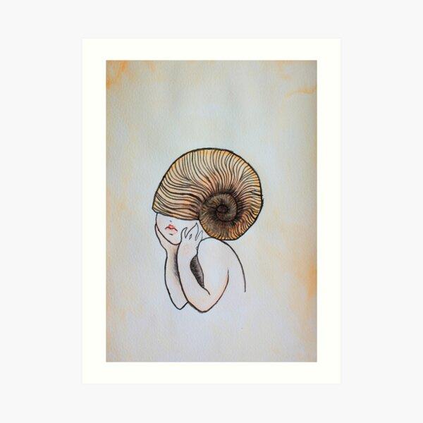 Little Shell girl Art Print
