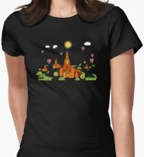 Temples in Cambodia Womens Fitted T-Shirt