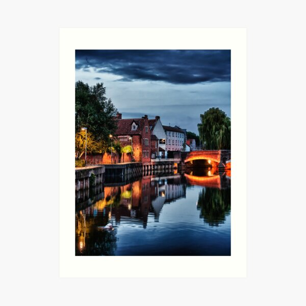 Fye Bridge, Norwich Art Print