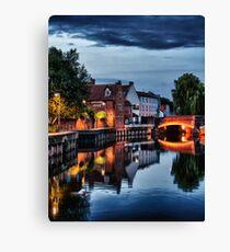 Fye Bridge, Norwich Canvas Print