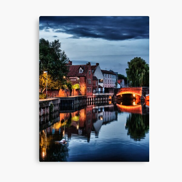 Fye Bridge, Norwich Canvas Print