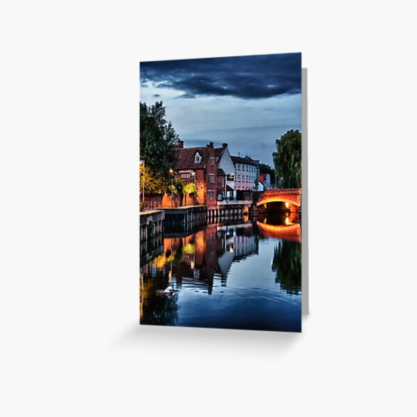 Fye Bridge, Norwich Greeting Card