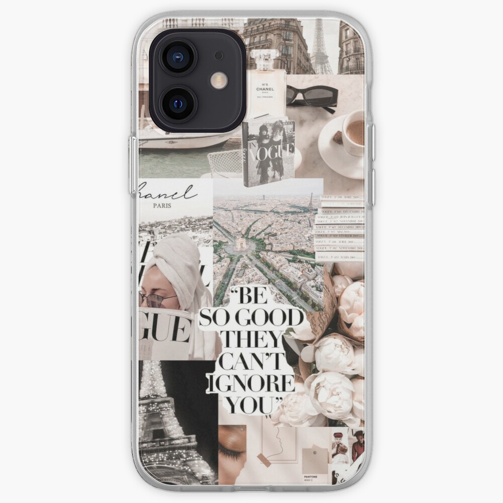 PARISIAN MORNINGS VOGUE COLLAGE iPhone Case & Cover