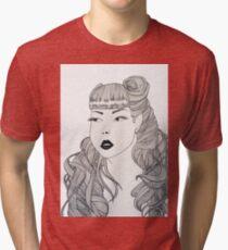Retro girl Tri-blend T-Shirt
