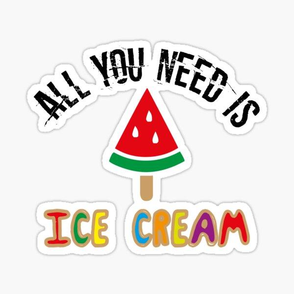 Watermelon Ice Cream  Sticker