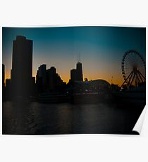 Windy City Sunset Poster