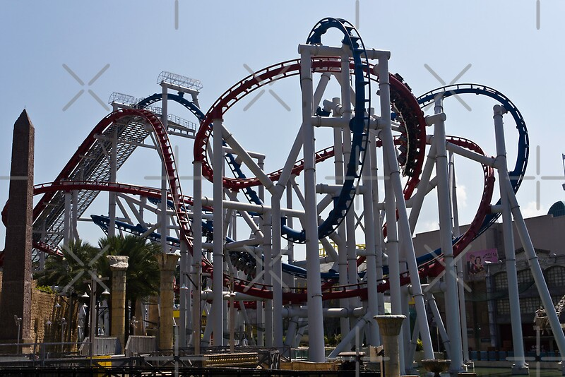 Quot Roller Coaster Rides Inside The Universal Studio Park In