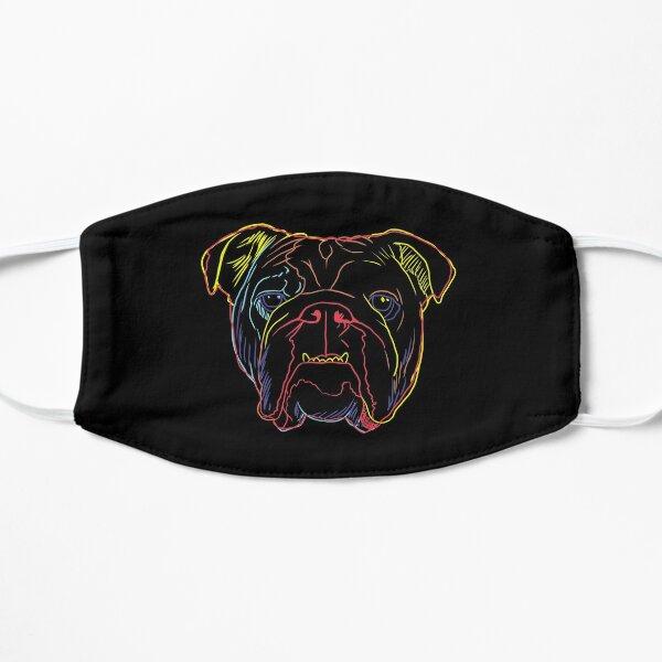 Dog English Bulldog Strokes Flat Mask