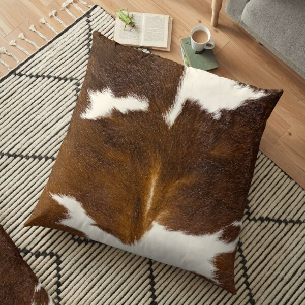 Brown Calf Cowhide Floor Pillow