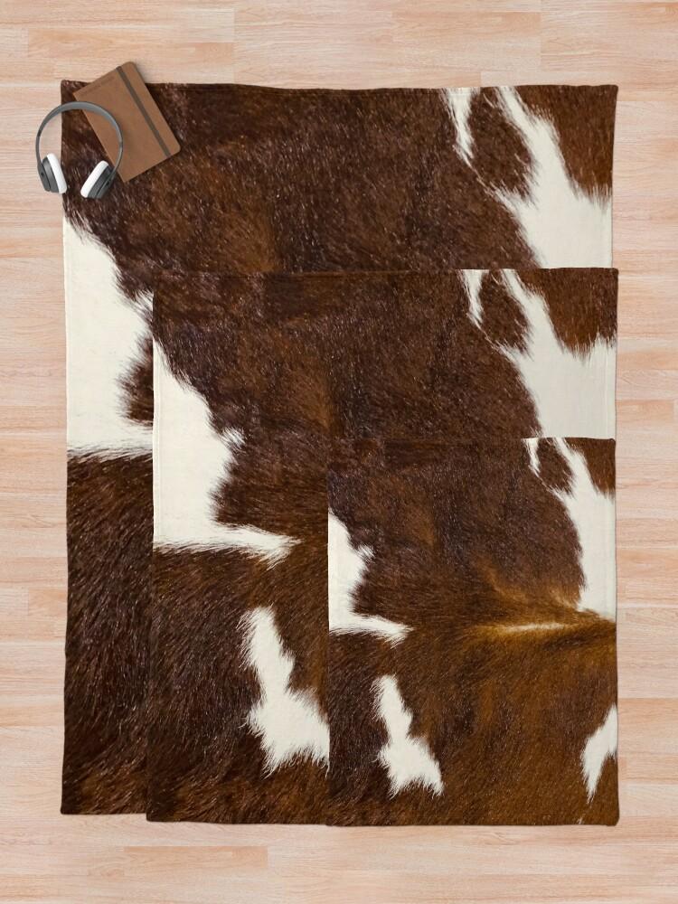 Alternate view of Brown Calf Cowhide Throw Blanket
