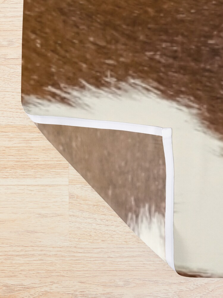 Alternate view of Brown Calf Cowhide Shower Curtain