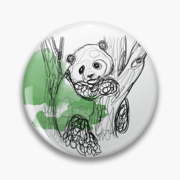 Waterline Panda Art  Pin
