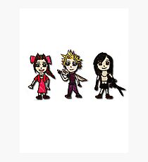 Final Fantasy Cartoons Photographic Print