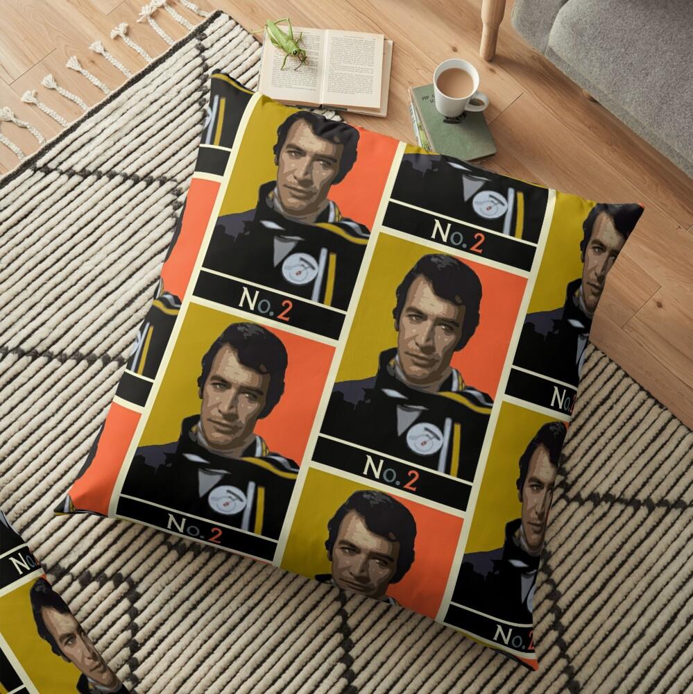 The New No. 2 - Peter Wyngarde Floor Pillow