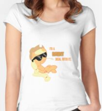 I'm a Brony Deal with it. (Apple Jack) - My little Pony Friendship is Magic Women's Fitted Scoop T-Shirt