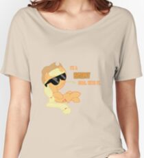I'm a Brony Deal with it. (Apple Jack) - My little Pony Friendship is Magic Women's Relaxed Fit T-Shirt