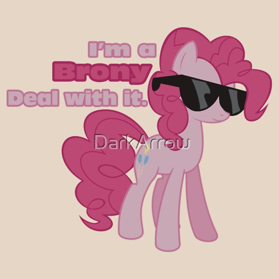 TShirtGifter presents: I'm a Brony Deal with it. (Pinkie Pie) - My little Pony Friendship is Magic | Unisex T-Shirt