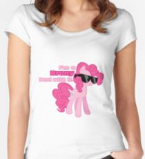 I'm a Brony Deal with it. (Pinkie Pie) - My little Pony Friendship is Magic Women's Fitted Scoop T-Shirt