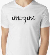 Imagine - John Lennon  Men's V-Neck T-Shirt