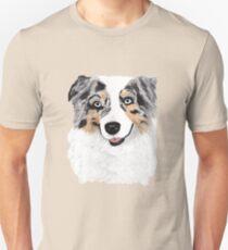 Toby ~ Australian Shepherd ~ Oil Painting Unisex T-Shirt