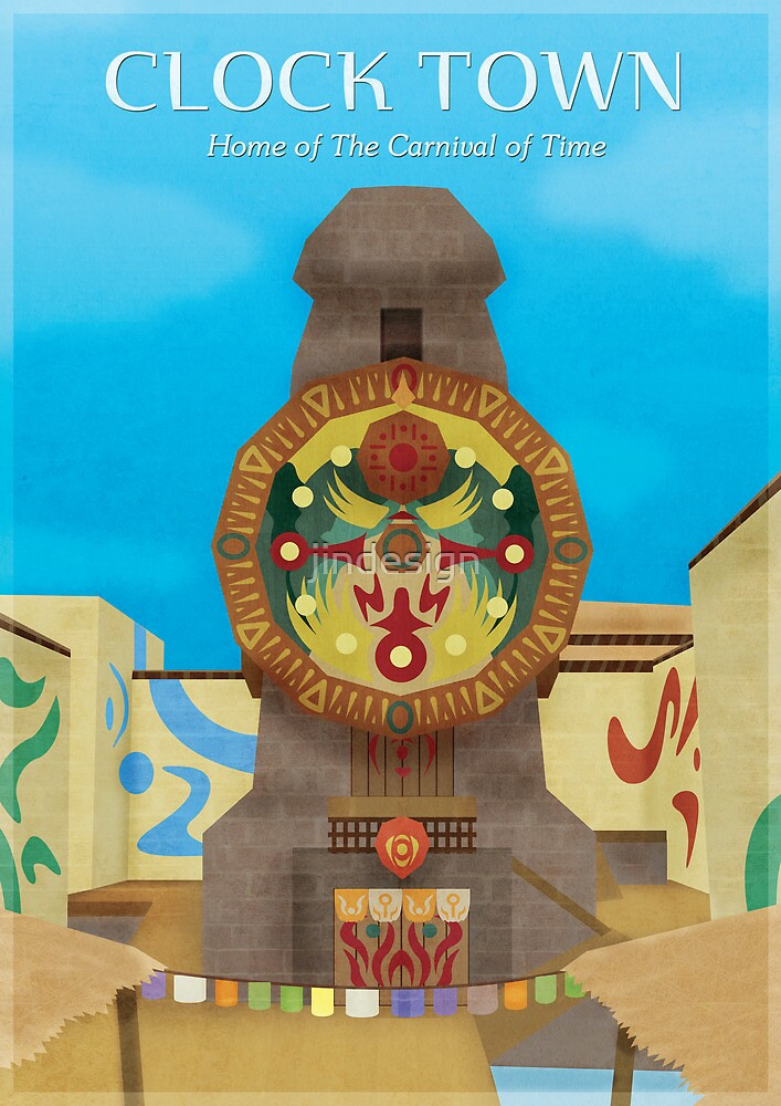 Majora's Mask - Clock Town Poster by jindesign