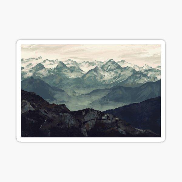 Mountain Fog Sticker