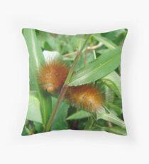 Yellow-Orange Bear Caterpillar - Spilosoma virginica - Virginia Tiger Moth Throw Pillow