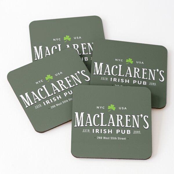 MacLarens Irish Pub Coasters (Set of 4)