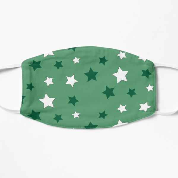 Green and White Stars Mask