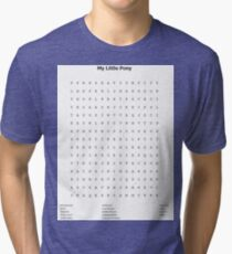 My Little Pony Word Search Tri-blend T-Shirt
