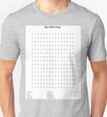 My Little Pony Word Search Unisex T-Shirt