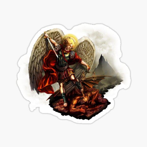 Saint Michael Archangel against the Devil Sticker