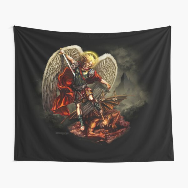Saint Michael Archangel against the Devil Tapestry
