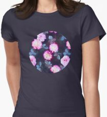 Twilight Roses Womens Fitted T-Shirt