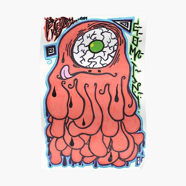 Percentum Comic Monster Poster