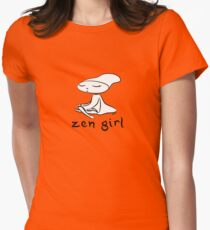 zen girl Womens Fitted T-Shirt