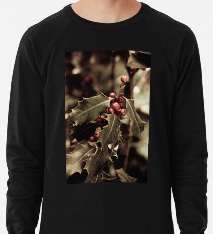 Holly bush with red berries III Leichter Pullover