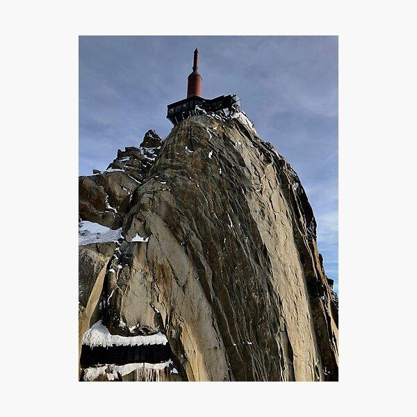 Man conquers the highest peak Photographic Print