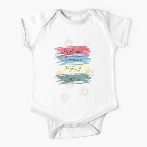 Harry Potter Houses design Short Sleeve Baby One-Piece
