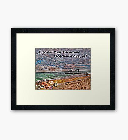 Postcard Fun - Paradise Ocean Grove Framed Print
