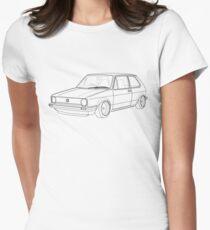 MK1 Golf Line Women's Fitted T-Shirt