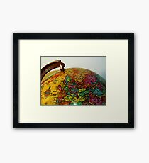 Geography Framed Print