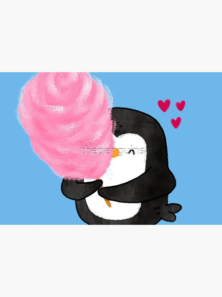 Penguin with Cotton Candy by thepenguins