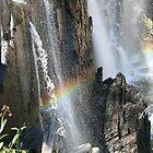 Waterfall with rainbow - one by Wolska