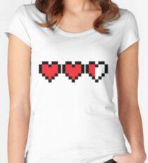 Zelda Heart Container Women's Fitted Scoop T-Shirt