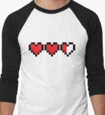 Zelda Heart Container Men's Baseball ¾ T-Shirt