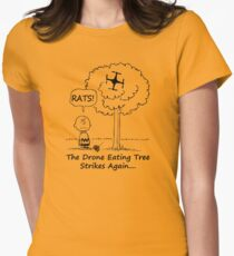 The Drone Eating Tree Strikes Again! Women's Fitted T-Shirt